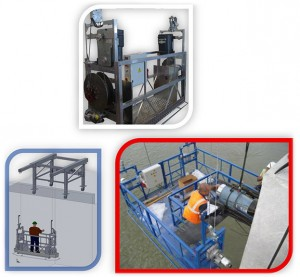 TP suspended platform travelling gantry systems